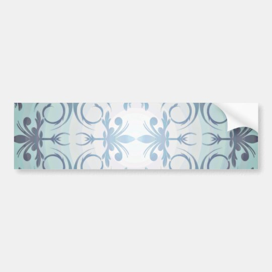 Blackish floral on light blue background bumper sticker