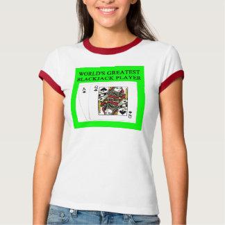 BLACKJACK 21 game player T Shirts