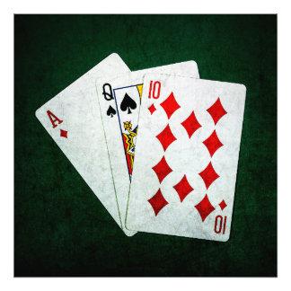 Blackjack 21 point - Ace, Queen, Ten Photo Print