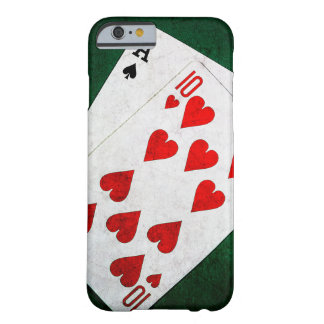 Blackjack 21 point - Ace, Ten Barely There iPhone 6 Case