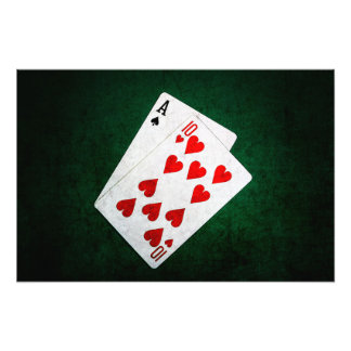 Blackjack 21 point - Ace, Ten Photograph
