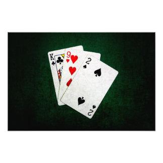 Blackjack 21 point - King, Nine, Two Photographic Print