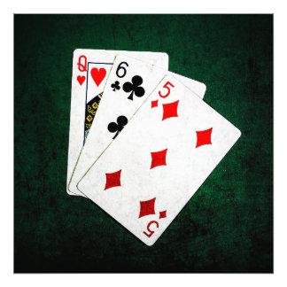 Blackjack 21 point - Queen, Six, Five Photo