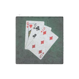 Blackjack 21 point - Queen, Six, Five Stone Magnet