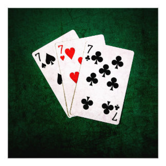 Blackjack 21 - Seven, Seven, Seven Photo Art