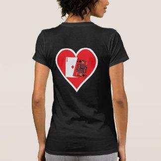 Blackjack CMYK Heart Tee Shirt