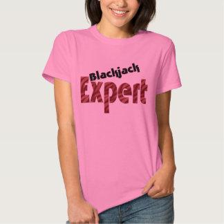 Blackjack Expert Casino Card Shark Womens Apparel T-shirt