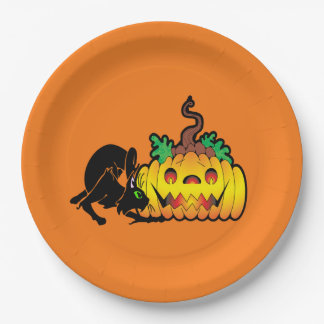 Blackjack Halloween Party Paper Plates
