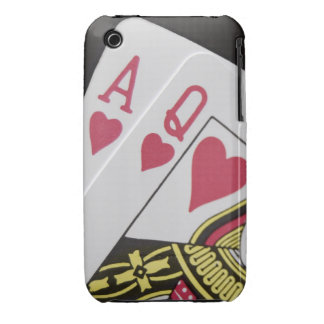 Blackjack Hand - Ace and Queen (3) Case-Mate iPhone 3 Case