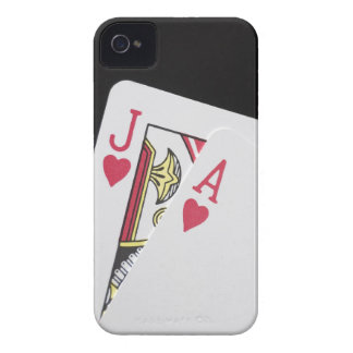 Blackjack Hand - Jack and Ace Case-Mate iPhone 4 Cases