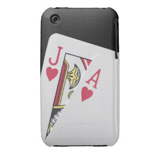 Blackjack Hand - Jack and Ace iPhone 3 Case-Mate Cases