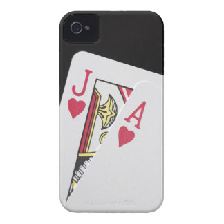 Blackjack Hand - Jack and Ace iPhone 4 Covers