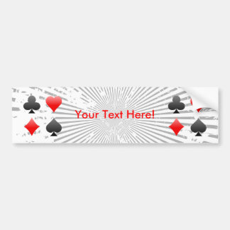 Blackjack / Poker Card Suits: Bumper Sticker