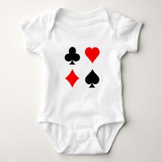 Blackjack / Poker Card Suits: Vector Art: Baby Bodysuit