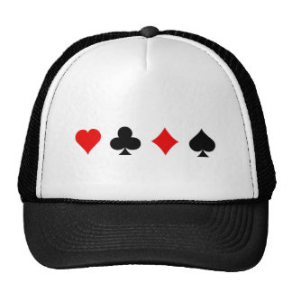 Blackjack / Poker Card Suits: Vector Art: Trucker Hat