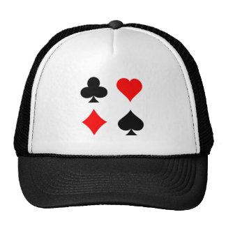Blackjack / Poker Card Suits: Vector Art: Cap