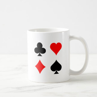 Blackjack / Poker Card Suits: Vector Art: Coffee Mug