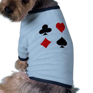 Blackjack / Poker Card Suits: Vector Art: Pet Shirt