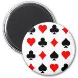 Blackjack / Poker Card Suits: Vector Art: Refrigerator Magnet
