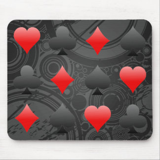 Blackjack / Poker Card Suits: Vector Art: Mousepad