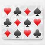 Blackjack / Poker Card Suits: Vector Art: Mousepad