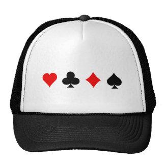 Blackjack Poker Card Suits Vector Art Trucker Hats