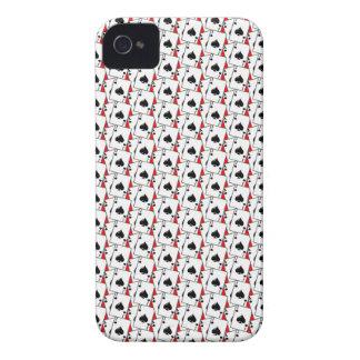 Blackjack Spades Red iPhone 4 Covers
