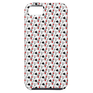 Blackjack Spades Red iPhone 5 Cover