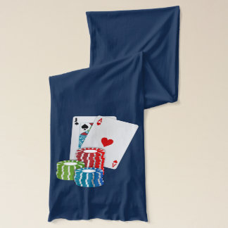 Blackjack with Poker Chips Scarf