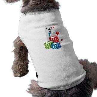 Blackjack with Poker Chips Sleeveless Dog Shirt