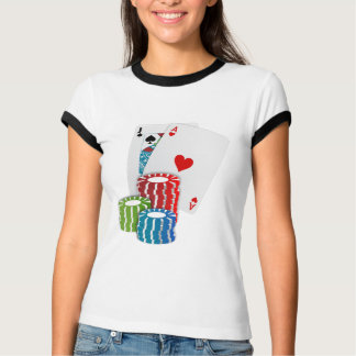 Blackjack with Poker Chips T-Shirt