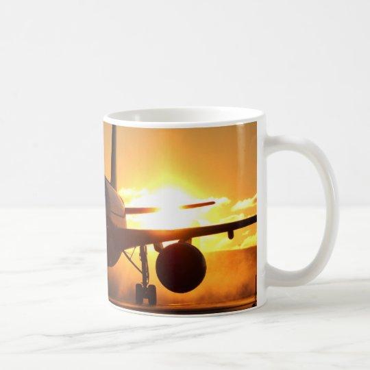 blackjet at sunset coffee mug