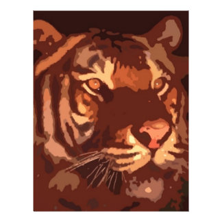 Blacklight Tiger Face Flyer Design