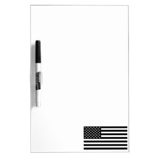 Blackout American Flag Dry Erase Board