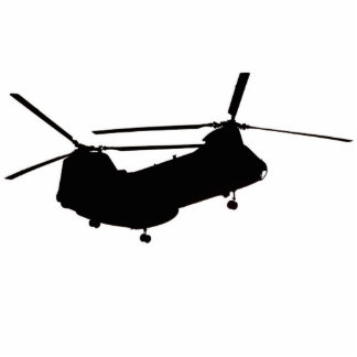 Blackout CH-46 Helicopter Standing Photo Sculpture