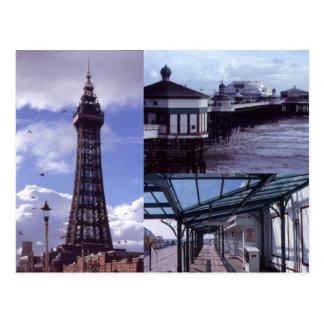 Blackpool 3 Images Postcard