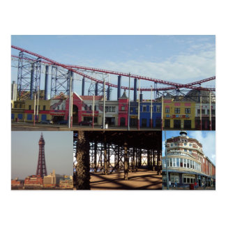 Blackpool 4 Images Postcard