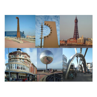Blackpool 6 Images Post Card