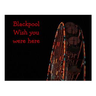 blackpool at night post card