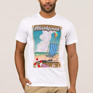 Blackpool beach seaside travel poster T-Shirt