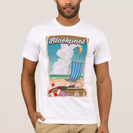 Blackpool beach seaside travel poster T-Shirt