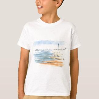 Blackpool Beach with Blackpool Tower T-Shirt