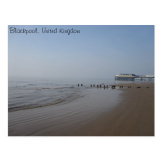 Blackpool Central Pier and Beach Postcards