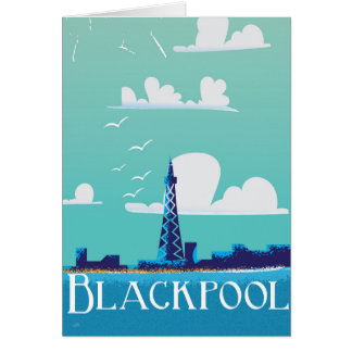Blackpool, England vintage travel poster Card
