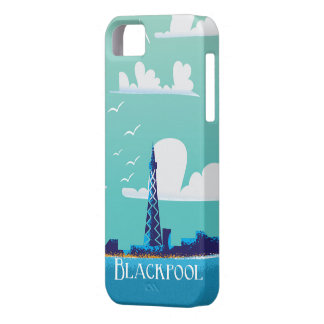 Blackpool, England vintage travel poster iPhone 5 Cases
