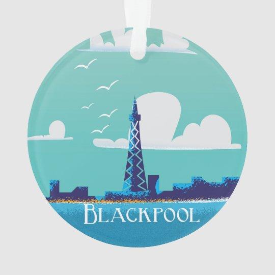 Blackpool, England vintage travel poster Ornament