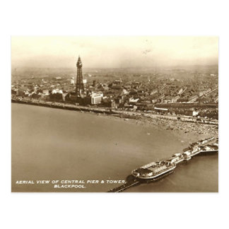Blackpool from the Air Post Card