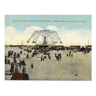 Blackpool, Maxim Flying Machine Postcard