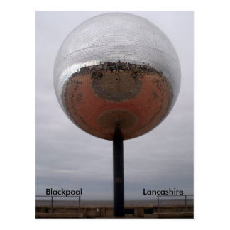 Blackpool Mirrorball Postcard