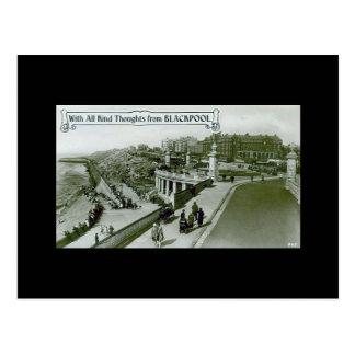 Blackpool Old Postcard